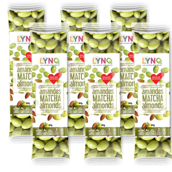 Matcha Covered Almonds. (pack of 6)